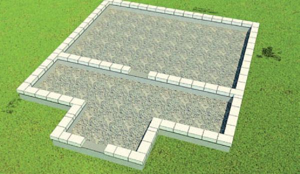 кладка газобетонных блоков по периметру